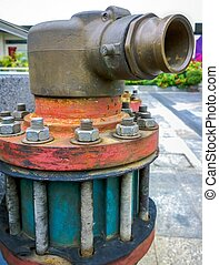 Water supply point - Close up of Water supply point, Outdoor...