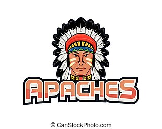 apaches banner illustration design