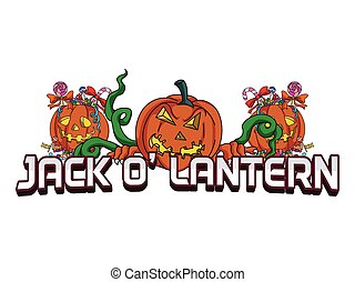 jack o lantern banner illustration design