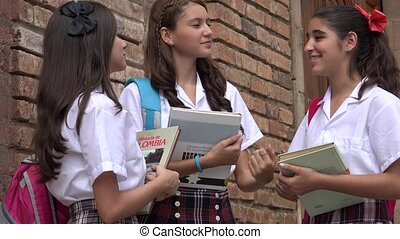 Female Students With Books