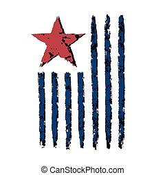 American vertical flag symbol celebration Independence Day -...