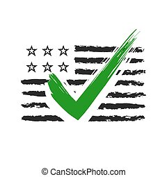 Presidential election USA sign. Black and green design on...