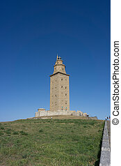 Tower of Hercules - The Tower of Hercules in La Coruna,...