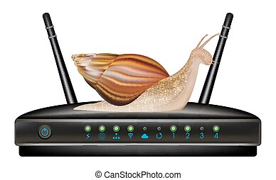 slow speed router with snail