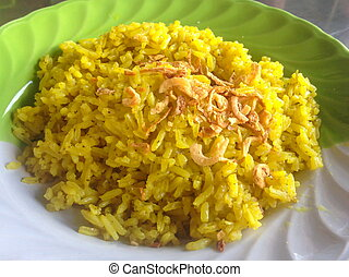 Muslim yellow rice