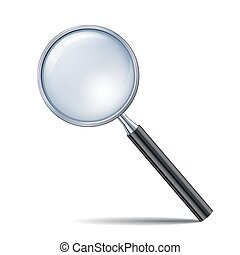 Magnifying glass isolated on white background.