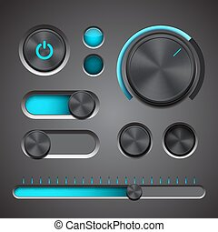 Set of the detailed UI elements