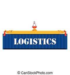 Freight blue container