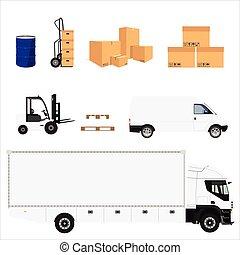 Delivery service icons - Delivery service icon set. Vector...