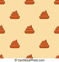 Poo seamless pattern. Background with poop, excrement smell,...