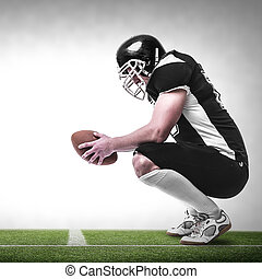 American football player. - American football player on the...