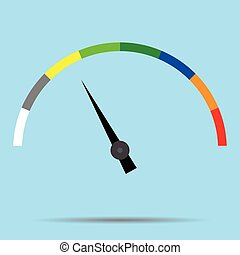 Indicator color spectrum barometer full vector. Index and...
