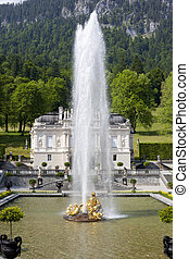 castle linderhof - An image of the beautiful Castle...