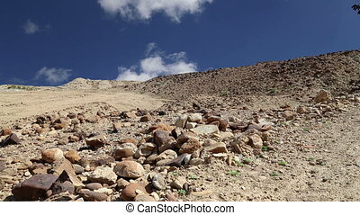 Stone desert, Jordan, Middle East - Stone desert typical...