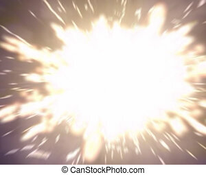 Big explosion. Computer generated video.