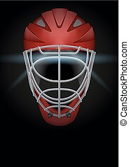 Dark Background of hockey helmet Vector Illustration - Dark...