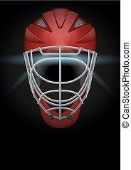 Dark Background of hockey helmet. Vector Illustration. -...