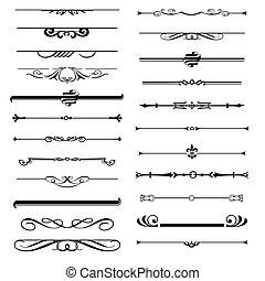 Set of calligraphic design