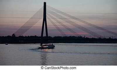 The Vansu Bridge in Riga, Latvia. - The Vansu Bridge is a...