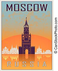 Moscow Vintage Poster
