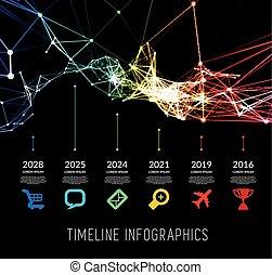 Timeline infographic vector illustration - Timeline element...