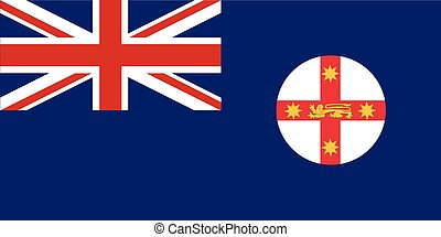 New South Wales Flag - The flag of New South Wales state in...
