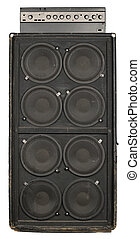 Guitar or bass amplifier - Photograph of the front of an old...