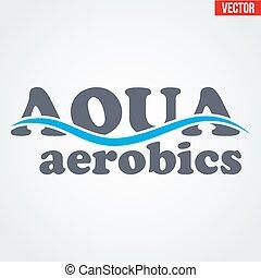 Symbol of Aqua Aerobics and Aqua Fitness. Vector...