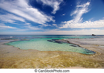 Rottnest Island - A natural swimming pool known as The Basin...