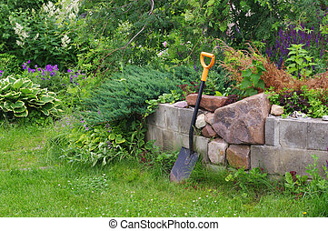 Shovel the gardener - shovel the gardener in a beautiful...