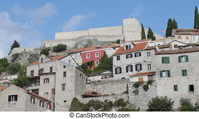 Sibenik Town on Dalmatian Coast, Croatia Europe.