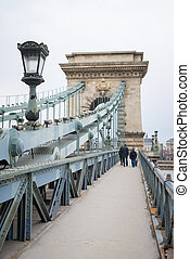 Chain Bridge at day in Budapest