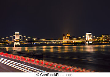 Chain Bridge - view from the Buda side of the Chain Bridge...
