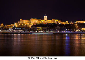 Budapest - Buda Castle at night in Budapest