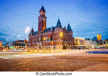 Helsingborg - The Town Hall in Helsingborg
