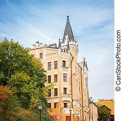 old castle in the center of Kiev