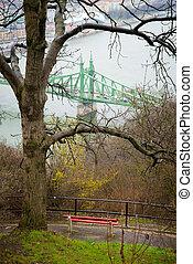 Gellert Hil - view from Gellert Hill on the  Liberty Bridge