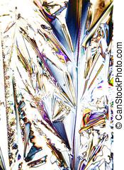 Mikrokristalle der Weinsäure im polarisiertem Licht -...