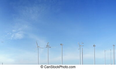 Grow up building wind turbines generating energy