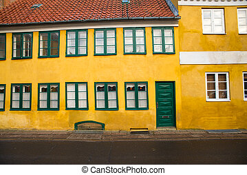 old house - yellow wall of an old house