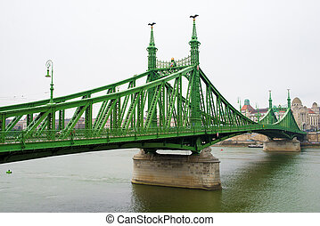 Liberty Bridge at day in Budapest at day