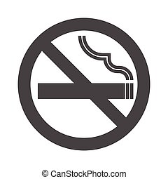 Non smoking area sign symbol, silhouette