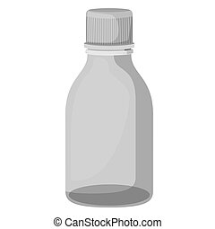 bottle syrup isolated icon vector illustration design