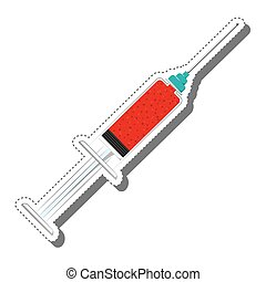 injection syringe isolated icon
