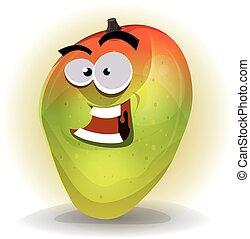 Cartoon Funny Mango Character - Illustration of a cartoon...