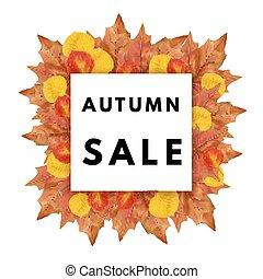 Autumn leaves frame.
