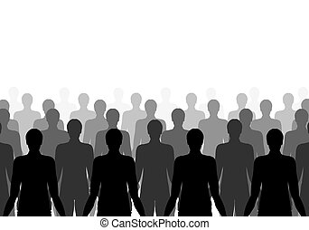 clones - Illustration of lots of the same person in rows
