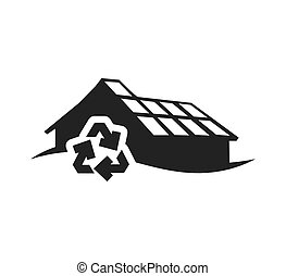 recycle ecology silhouette design