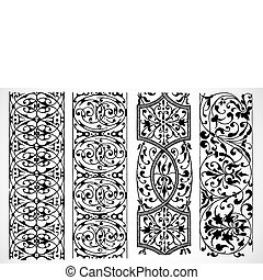 Vector Decorative Borders - Detailed vector decorations...