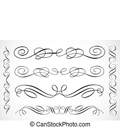 Vector Decorative Frame Ornaments - Detailed vector...